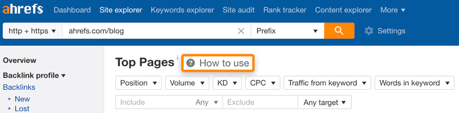Ahrefs How to Use