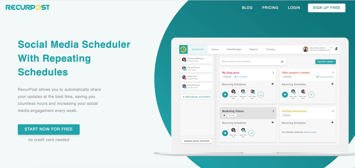 Recurpost   social scheduling review